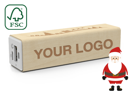 Maple Christmas - Credit Card Power Bank