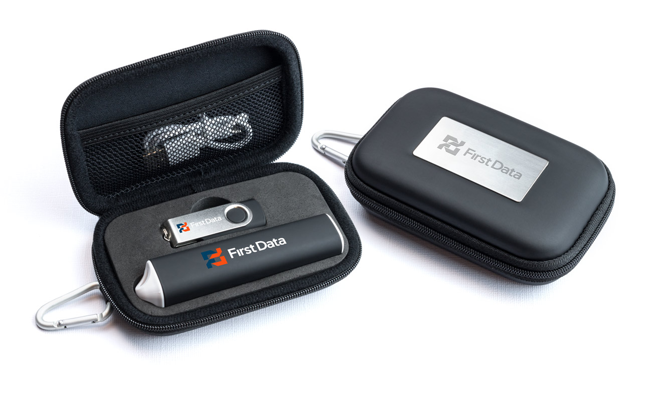 Pure S - Custom Thumb Drive and Credit Card Power Bank